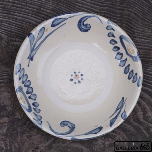 8寸皿(唐草):上江洲史朗:016007-1