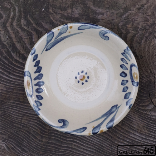 7寸皿(呉須唐草):上江洲史朗:016008-1