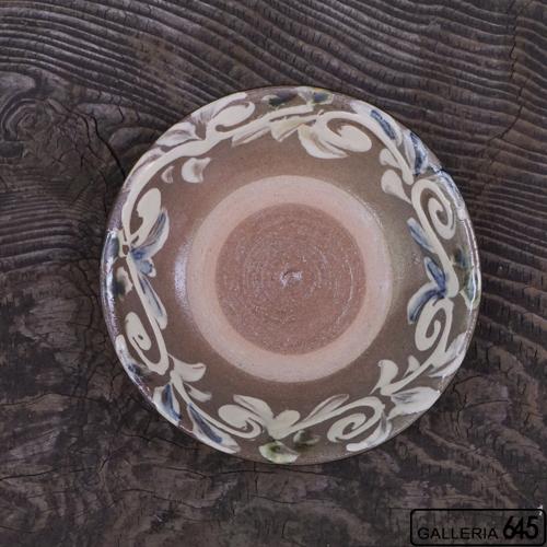 6寸皿(白唐草):上江洲史朗:016009-2