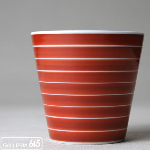 ロックカップ(独楽筋朱):ARITA PORCELAIN LAB 018054_2