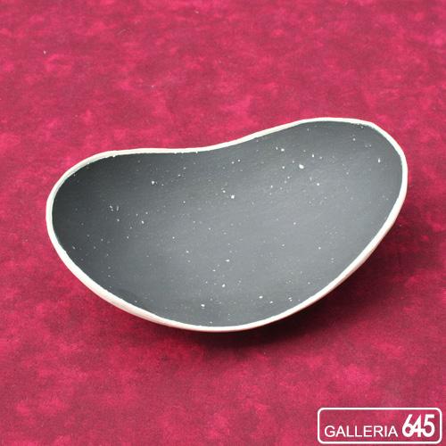 楕円皿(外白・中黒・小):にしだゆか:025074