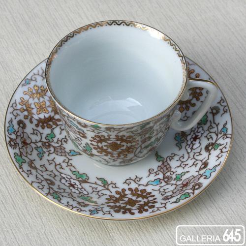 色絵桐丸紋珈琲碗皿:有田製窯【送料無料】:030026