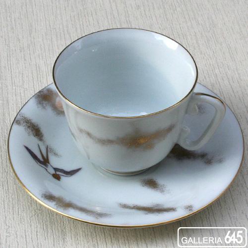 色絵燕文珈琲碗皿:有田製窯【送料無料】:030029