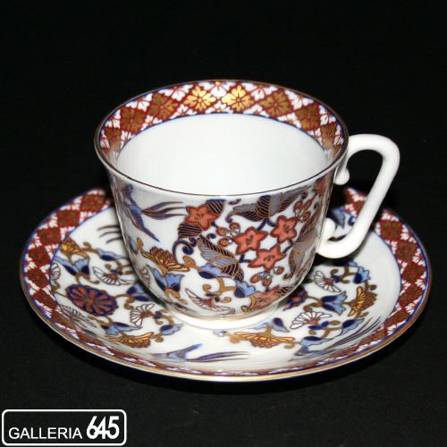 色絵鳥丸文珈琲碗皿:有田製窯【送料無料】:030036