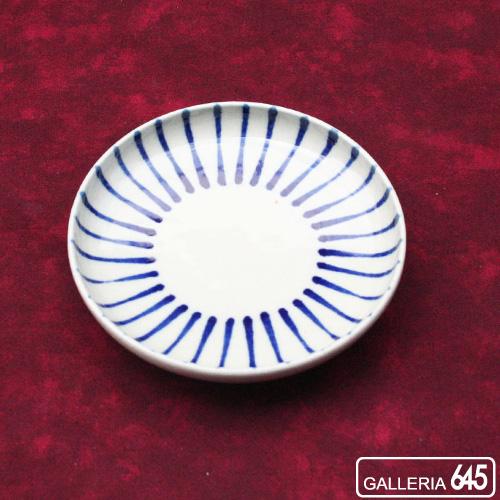 染付4寸皿(線):壹岐幸二:036061