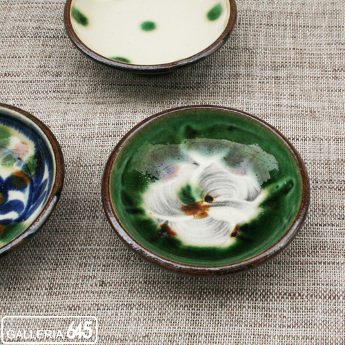 3寸皿(緑):福田健治:039024