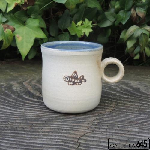 魚文マグカップ小(白土):與 宏文:04100