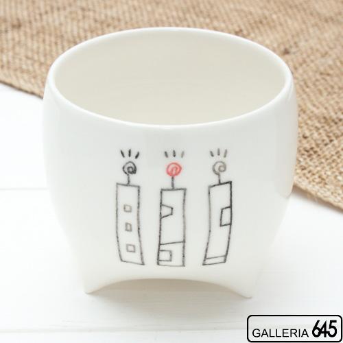 まるいコップ 白(絵柄A):大澤 奈津子:067001