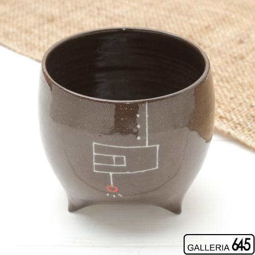 まるいコップ 黒(絵柄B):大澤 奈津子:067005
