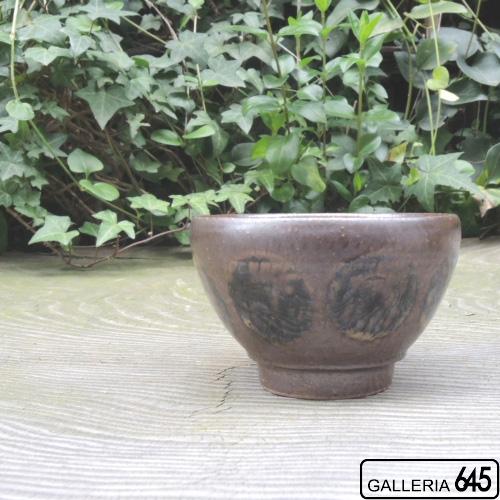 3.5寸丸碗(茶ドット):芝原雪子 :072062