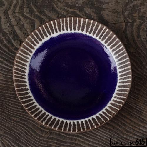 7寸皿(紺色):安里貴美枝:081057-6