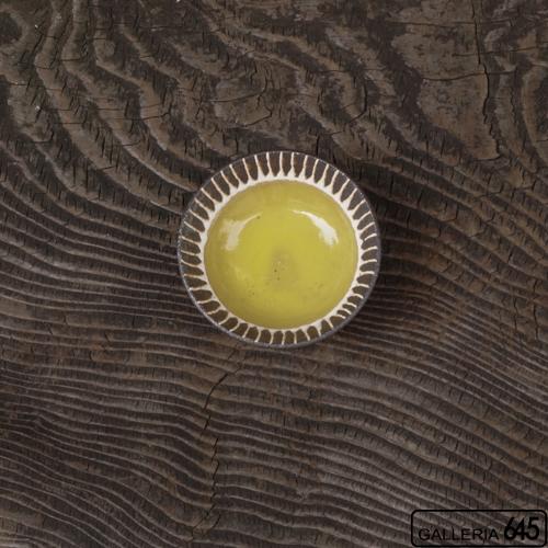 ろくろ豆小鉢(黄):安里貴美枝:081063-3