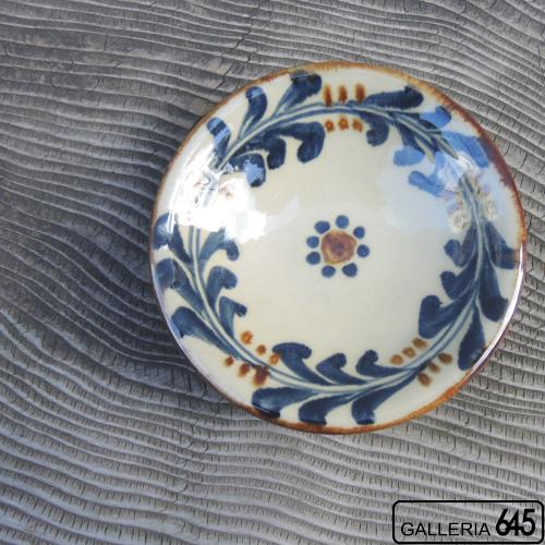 4寸皿(巻唐草):金城定昭:087002