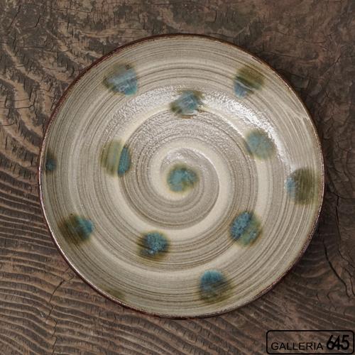 7寸皿(グリーンドット):谷口室生:088111