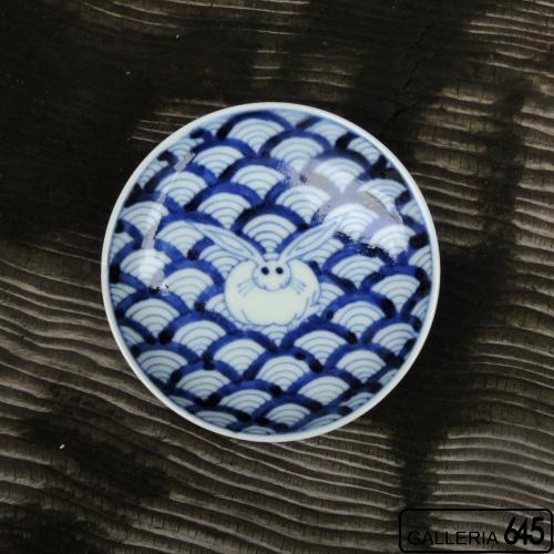 青海波兎文小皿:岩永 浩:002012