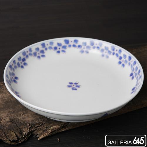 6寸深皿渕ルリ色桜:津上是隆:015028