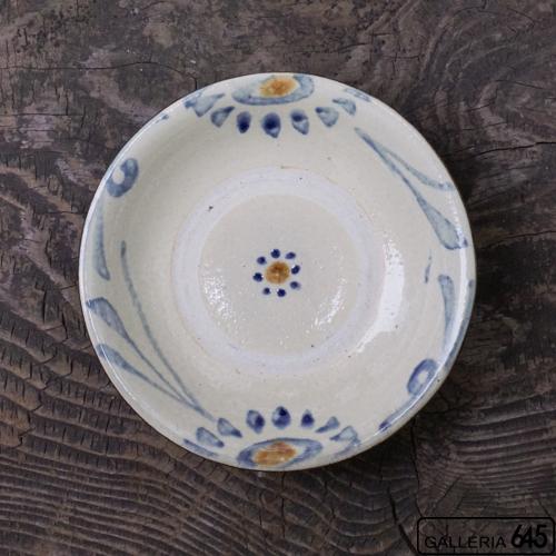 5寸皿(唐草・濃):上江洲史朗:016011-2