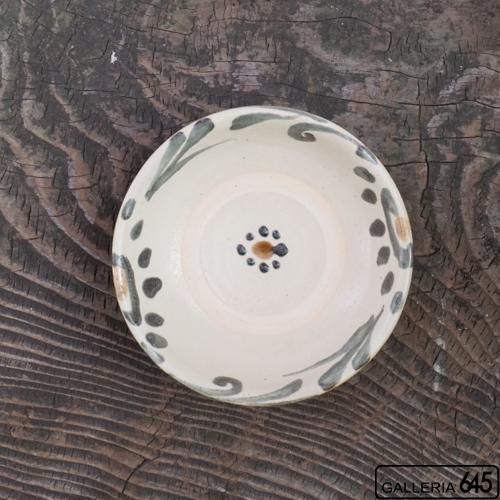 4寸皿(墨呉須唐草):上江洲史朗:016014-2