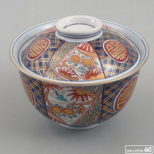染錦丸紋寿 円菓子碗(木箱入り):アリタポーセリングラボ 【送料無料】