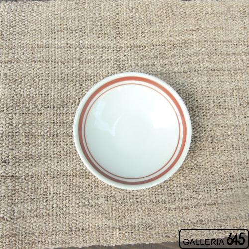 3寸皿(線巻赤):大日窯:034065