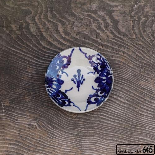 5寸皿(菊唐草):眞喜屋 修 :035038
