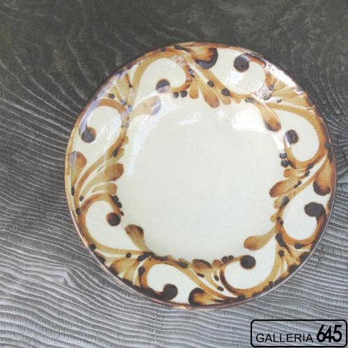 8寸皿(鉄唐草):眞喜屋 修 :035084