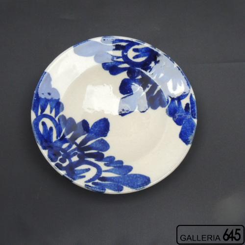 7寸皿(花唐草):眞喜屋 修 :035090