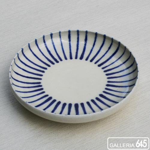 染付5寸皿(線):壹岐幸二:036024