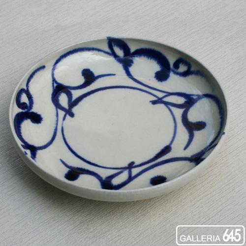 染付5寸皿(蕾唐草):壹岐幸二:036025