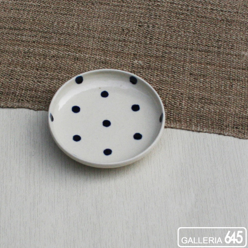 染付3.5寸皿(水玉):壹岐幸二:036048