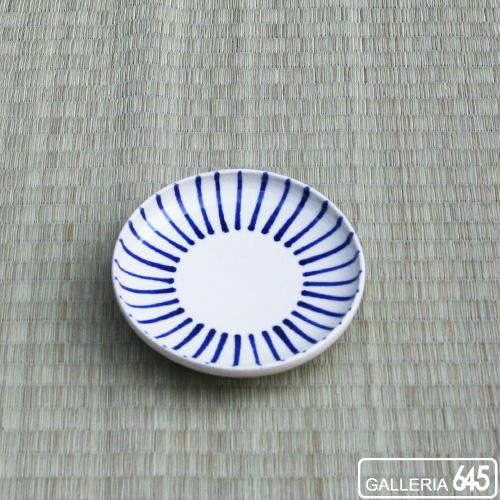 染付3.5寸皿(線):壹岐幸二:036051