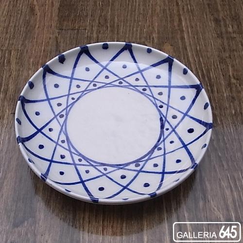 染付5寸皿(格子):壹岐幸二:036055