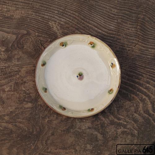 6寸平皿(三彩イッチン):福田健治:039009