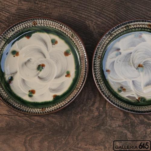 7寸平皿(緑):福田健治:039013