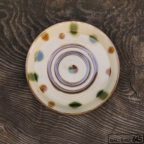 7寸平皿(カラードット):福田健治:039015