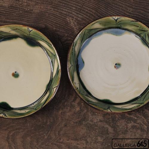7寸平皿(緑波):福田健治:039034