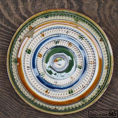 7寸平皿(茶線):福田健治:039038