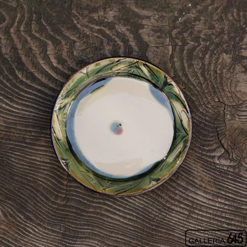 6寸平皿(緑波):福田健治:039041