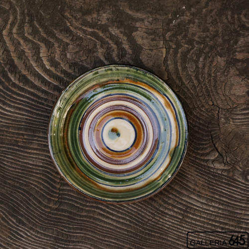 6寸平皿(緑線):福田健治:039045