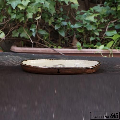 楕円皿(草紋):福田健治:039285