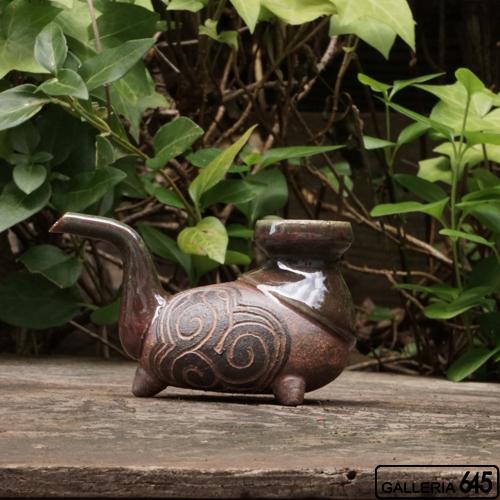 3本足のカラカラ(茶)(半合):山田 和男:046037-3