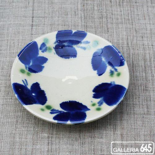 染付5寸皿:かねき陶房 菊地 穣 :054004