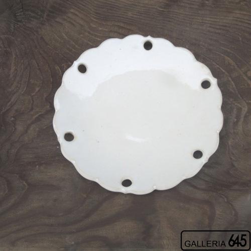 雪花皿柿灰釉6寸皿:かねき陶房 菊地 穣 :054031
