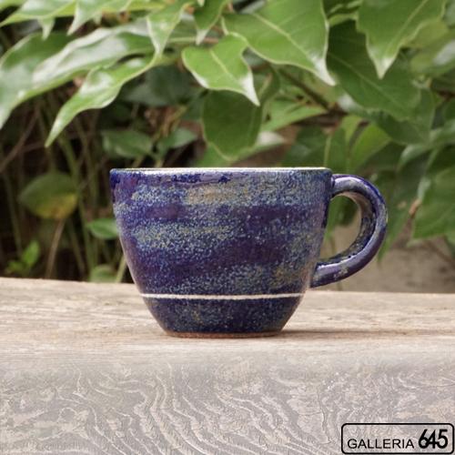 コーヒーカップ(小・青線):ポープ奈美:066114