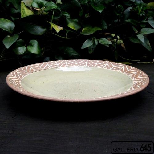 7寸皿(矢羽):芝原雪子 :072063
