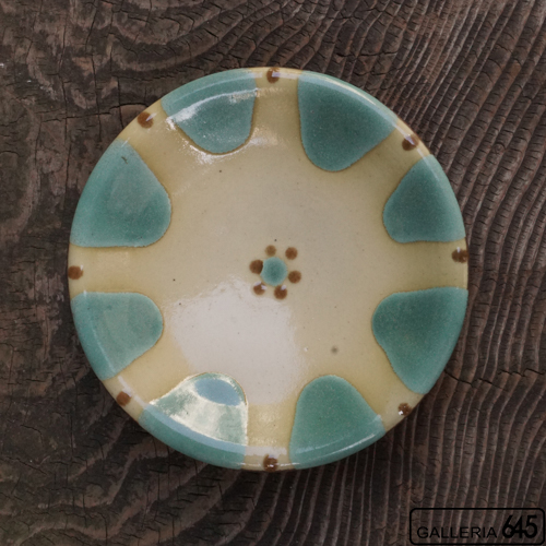 6寸皿(緑):野本 周:080003