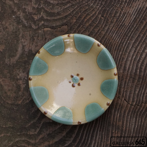 5寸皿(緑):野本 周:080005