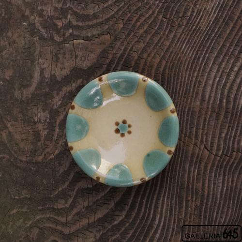 4寸皿(緑):野本 周:080009