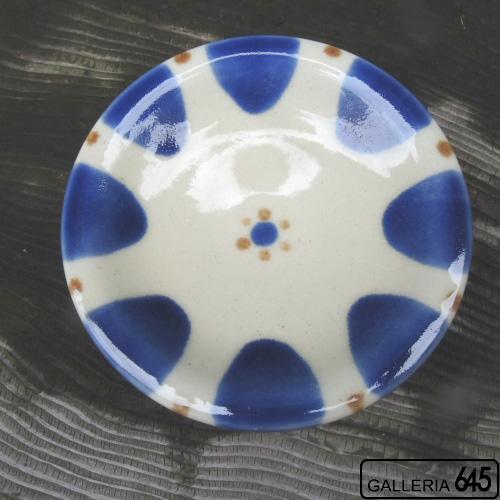 5寸皿(青):野本 周:080033