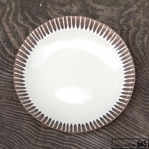 7寸皿(クリーム):安里貴美枝:081057-3